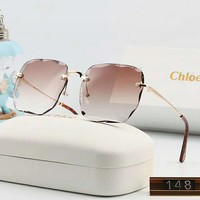 Chloe Hot Sale Women Chic Summer Sun Shades Eyeglasses Glasses Sunglasses 6#