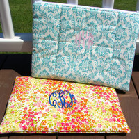 "Monogrammed Laptop Case- 13"" or 15"" Macbook/Macbook Pro/Other Laptop (Names, Monograms, Etc)"