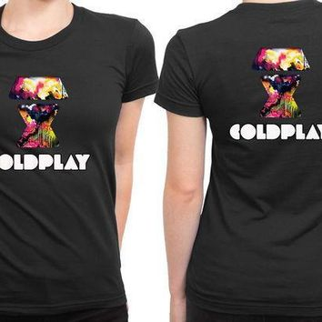 Coldplay Logo 2 Sided Womens T Shirt