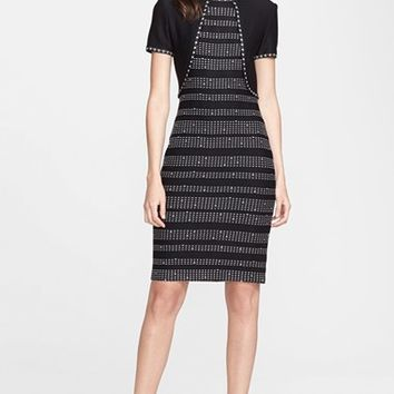 Women's St. John Collection Dot Dash Knit Dress