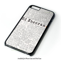 Ed Sheeran Tumblr Design for iPhone 4 4S 5 5S 5C 6 6 Plus, and iPod Touch 4 5 Case