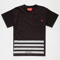 Ayc Quilt Block Boys Pocket Tee Black  In Sizes