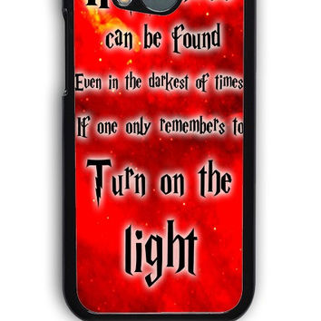 HTC One M8 Case - Hard (PC) Cover with Harry Potter Quotes Happiness Can be Found Even in The Darkest of Times If One Remembers Plastic Case Design