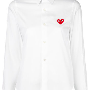 Comme Des Garçons Play Embroidered Heart Shirt - Farfetch