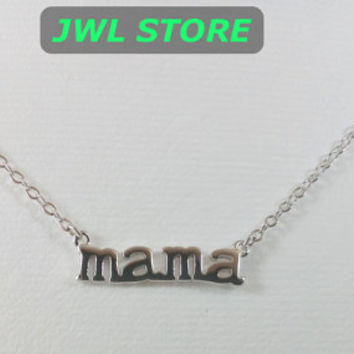 Sterling Silver 925 Choker Necklace,Dainty Choker Necklace Silver Personalized Mama Necklace Choker Necklace Girlfriend Gift Birthday Gift