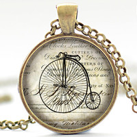 Penny Farthing Necklace Vintage Bicycle Jewelry by FrenchHoney