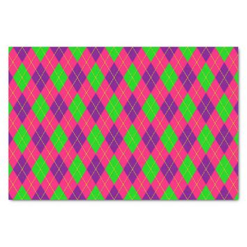 Crazy Kids Colors-Argyle 4-TISSUE WRAP PAPER