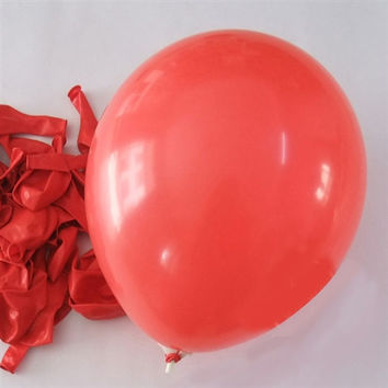 Latex Solid Balloons, 12-inch, 12-Piece, Red