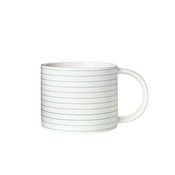 Saturday Morning Mug in Notebook Stripe - Kate Spade Saturday