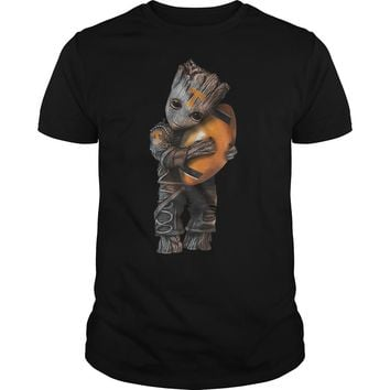 Baby Groot Hug Tennessee Volunteers Football Shirt Guys Tee