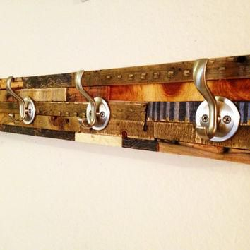 Rustic/Modern Coat Rack: Beautiful Artistic Hanger created from the scraps of the shop