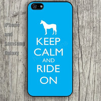 Horse keep calm ride on colorful iphone 6 6 plus iPhone 5 5S 5C case Samsung S3,S4,S5 case Ipod Silicone plastic Phone cover Waterproof