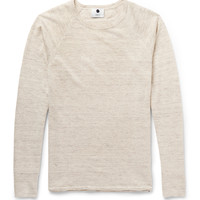 NN.07 - Casper Slim-Fit Mélange Linen and Wool-Blend Sweater