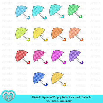 Digital Clip Art Preppy Winter Umbrella Vector Stock Art png Scrapbooking Embellishment