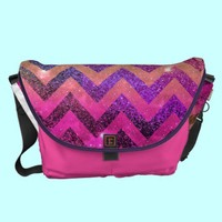 *** PARTY CHEVRON *** Messenger Bag by Monika Strigel from Zazzle.com STYLE YOUR STYLE ***