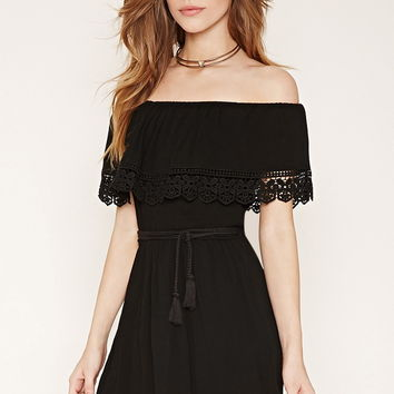 Belted Off-the-Shoulder Dress
