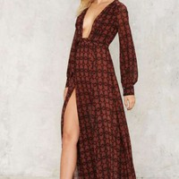 Nasty Gal Dead Center Maxi Dress
