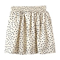 Floral High Waisted Mini Skirt for Girl Big Dot Beige