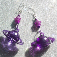 Magical Star and Saturn Earrings