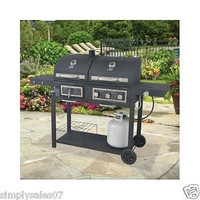 Stainless Gas Grill 4-Burner Outdoor Cooking BBQ Patio Barbecue Burger Steel