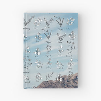 'Herbs-Nature Juxtaposition' Hardcover Journal by yaansoon