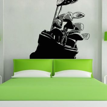Vinyl Wall Decal Sticker Golf Clubs #5103