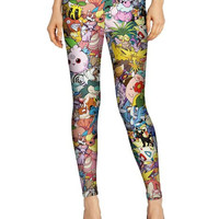Pokemon Nintendo Video Games Print Leggings- Yoga Leggings - Yoga Tights - Workout Leggings - Art Leggings - Running Leggings