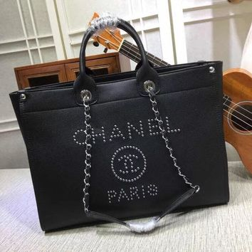 CHANEL WOMEN'S NEW STYLE CANVAS HANDBAG TOTE BAG