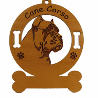 2073 Cane Corso Head Ornament Personalized with Your Dog's Name