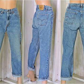 Vintage Levis 505 jeans 31 X 30 / size 7 /8 /  orange tab Levis USA / high waisted / straight leg / regular fit boyfriend jeans