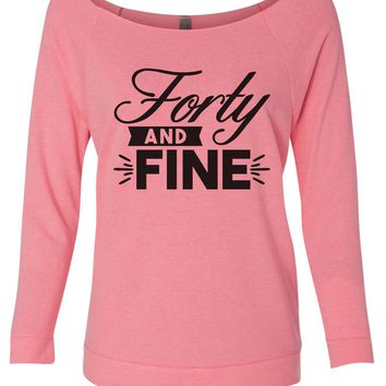 Forty And Fine 3/4 Sleeve Raw Edge French Terry Cut - Dolman Style Very Trendy