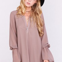 Perveen Pirate Tunic ~ Dune Chiffon