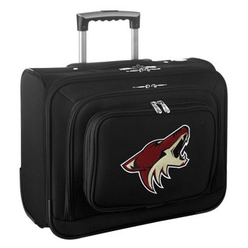Arizona Coyotes Carry-On Rolling Laptop Bag - Black - http://www.shareasale.com/m-pr.cfm?merchantID=7124&userID=1042934&productID=540329269 / Arizona Coyotes