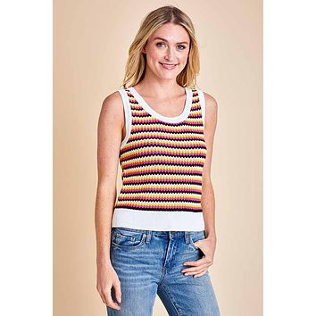 BB Dakota Lombard Street Knit Sleeveless Sweater Tank