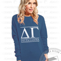 Delta Gamma Block Letter Crewneck - Order now to help us reach our goal!