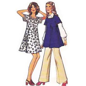 Dress Top & Pants 1970s Vintage sewing pattern Style 4135 Size 12 Bust 34 inches