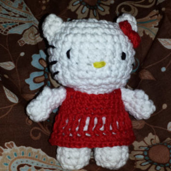 Hello Kitty - Crochet - Cat - Gift Ideas - 100% Cotton