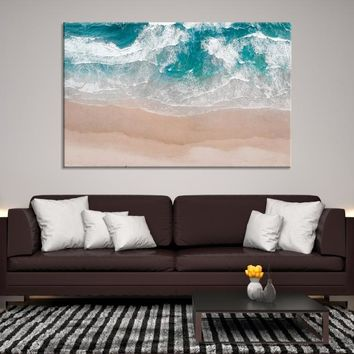 43412 - Ocean Wall Art | Abstract Wall Art | Creative Wall Art | Abstract Watercolor | Gift for Her | Nautical Wall Art | Beach Canvas Print