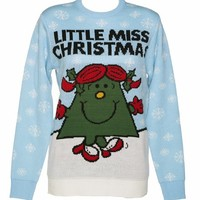 Ladies Little Miss Christmas Knitted Xmas Jumper : TruffleShuffle.com