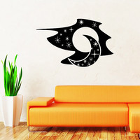 Sky Moon Stars Wall Decal Vinyl Decals Sticker Interior Home Decor Vinyl Art Wall Decor Bedroom Nursery Baby Kids Children's Room SV5890