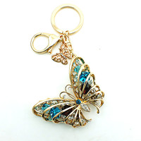 Butterfly Charms Keychain