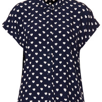 Heart Print Shirt - New In This Week - New In - Topshop USA