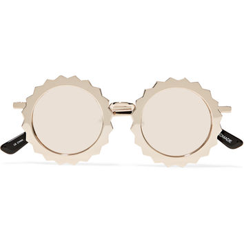 House of Holland Seeing Stars round-frame gold-tone sunglasses – 60% at THE OUTNET.COM