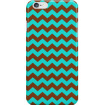 Turquoise and Brown Chevron Zigzag Pattern by TigerLynx