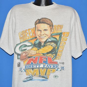 90s Green Bay Packers Brett Favre MVP t-shirt Extra Large