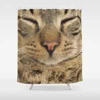 Cat Shower Curtain by Deadly Designer