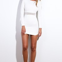 All The Action Dress White