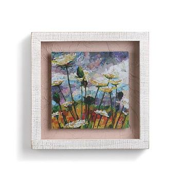 Queen Anne's Lace Shadow Box Wall Art