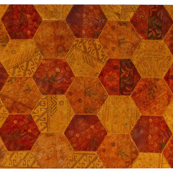 Honeycomb Rug, Rust/Orange, Area Rugs