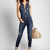 Cara Denim Jumpsuit in Acapella Wash | GUESS.com